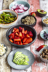 Fresh ingredients for a veggie bowl - SARF04220