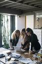 Businesswomen using laptop in office - CUF50218