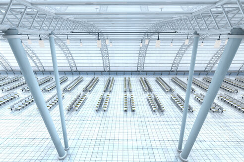 3D Rendered Illustration, Architecture visualization of an airport - SPCF00394