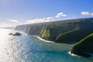 USA, Hawaii, Big Island, Pacific Ocean, Pololu Valley Lookout, Kohala Forest Reserve, Aerial View - FOF10606