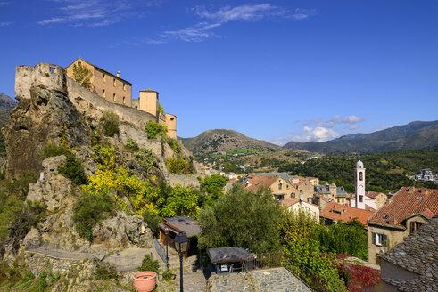 Zitadelle über der Altstadt, Corte, Korsika, Corse, Frankreich - LBF02512