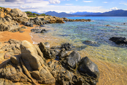 France, Corsica, Propriano, rocky seafront - LBF02515