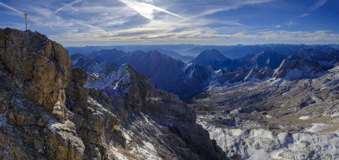 Germany, Bavaria, Alps, Zugspitze, summit cross - LBF02527