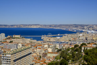 France, Marseille, view over Marseille - LBF02548