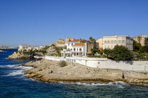 France, Marseille, coast at Plage de Petit Nice - LB02563