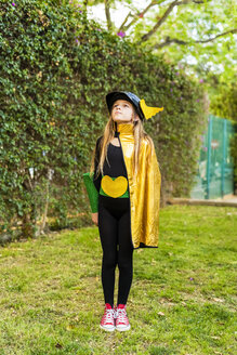 Girl posing in super heroine costume - ERRF01027