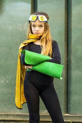 Girl posing in super heroine costume - ERRF01039