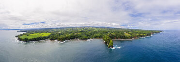 USA, Hawaii, Big Island, Onomea Bay, Aerial view - FOF10620