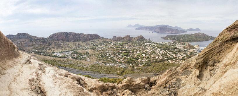 Aeolian Islands, Vulcano, Panoramic view from volcano - MAMF00513