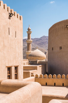 View of Nizwa mosque from Nizwa Fort, Nizwa, Oman - WV01175