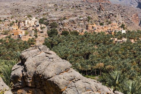 Misfat al Abriyyin and mountains, Ad Dakhiliyah, Oman - WVF01202