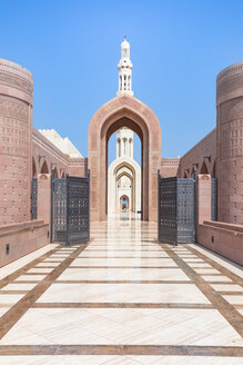 View og the minaret of the Sultan Qaboos Grand Mosque, Muscat, Oman - WV01223