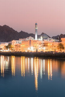 Mutrah at sunset, Muscat, Oman - WVF01256