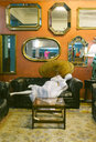 Interior of a vintage furniture and clothing shop - MGOF04020