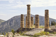 Greece, Delphi, Temple of Apollo, Doric pillars - MAMF00555
