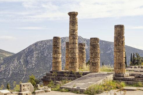 Greece, Delphi, Temple of Apollo, Doric pillars - MAMF00555