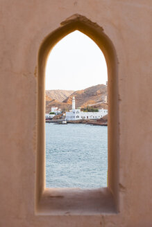 Al Ayjah mosque seen from Al Ayjah lighthouse, Sur, Oman - WVF01265