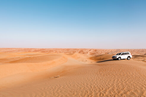 Sultanate Of Oman, Wahiba Sands, Dune bashing in an SUV - WVF01304