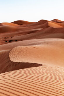 Sultanate Of Oman, Wahiba Sands, dunes in the desert - WVF01406
