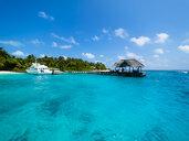 Maledives, Ross Atoll, jetty - AMF06898