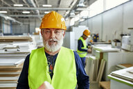 Portrait of mature worker in factory - ZEDF02104