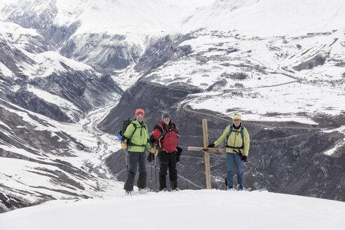 Georgia, Caucasus, Gudauri, Ski Touring to Lomisi Monastery - ALRF01459