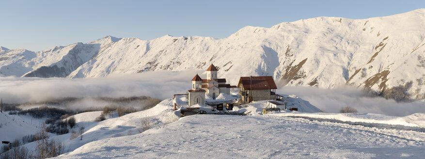 Georgia, Caucasus, Gudauri, remote building complex in winter - ALRF01483