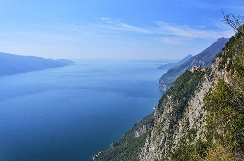 Italy, Lombardy, Lake Garda, Madonna di Montecastello - MRF01951