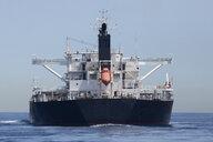 Spain, Andalusia, Tarifa, Strait of Gibraltar, Cargo ship - KBF00599