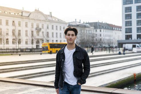 Copenhagen, Denmark. Teenager boys hanging out outside...etc - AFVF02773