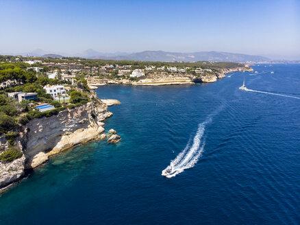 Spain, Mallorca, Palma de Mallorca, Aerial view of Region Calvia and El Toro, Portals Vells - AMF06932