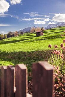 Italy, Trentino Alto-Adige, Vigo di Fassa, rural scene between Dolomites mountains - FLMF00184