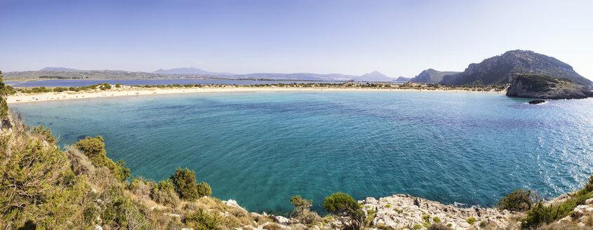 Greece, Messenia, Gialova Lagoon, Voidokilia beach - MAMF00593