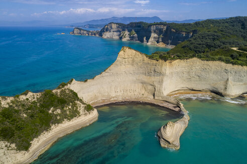 Greece, Corfu, aerial view of Cape Drastis - TAMF01368