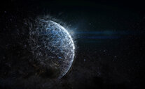 Futuristic outer space planet - CAIF23293