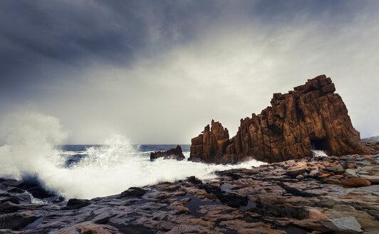 Italy, Sardinia, Tortoli, Arbatax, rocks in the surf - FCF01739