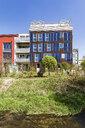 Germany, Tuebingen, Muehlenviertel, modern residential zero-energy houses - WDF05251