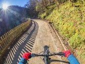 Spain, Asturia, Ruta del Alba, Personal perspective of cyclist - LAF02278