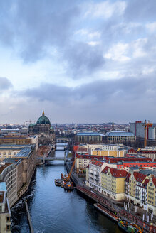 Germany, Berlin, view to the city with Berlin Cathedral  and River Spree - PUF01412