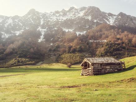 Spanien, Nordspanien, Asturien, auf dem Weg zur Alm vega de brañagallones, Refugio de Montaña de Brañagallones, Cordillera Cantábrica - LAF02298