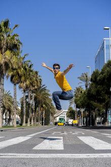 Barcelona, Spain. unusual, acrobat, surprise, concept... - AFVF02884