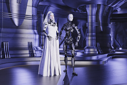 Robot bride and groom in wedding - BLEF02424