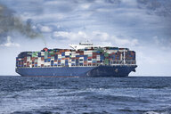 Spain, Andalusia, Strait of Gibraltar, Cargo ship - KBF00600