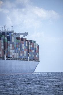 Spain, Andalusia, Strait of Gibraltar, Cargo ship - KBF00603