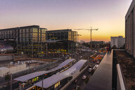 Germany, Berlin, central station at sunset - TAMF01384