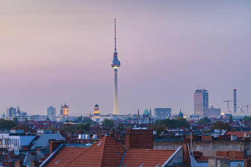Germany, Berlin, skyline by sunset - TAMF01393
