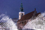 Germany, Berlin, view to St. Mary's Church at night - TAMF01402