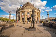 Germany, Berlin, view to Bode Museum with sculpture 'Hector' of Markus Luepertz in the foreground - TAM01411