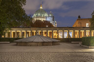 Germany, Berlin, view to lighted Berlin Cathedral - TAMF01420