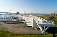 Maeslantkering storm surge barrier, Hoek van Holland, Zuid-Holland, Netherlands - CUF50858